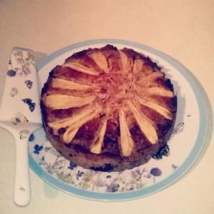 Pear, Hazelnut & Chocolate Cake