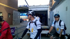 Matt and James, ready to go!
