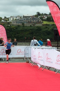 ....and entering the finish zone!