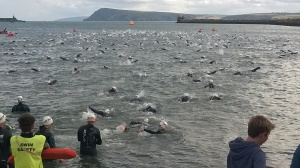 The Ocean Lava swim start...